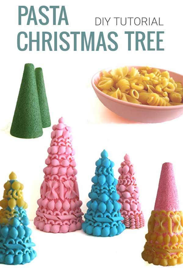 DIY Tutorial Pasta Christmas Tree