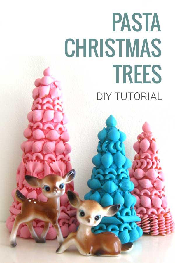 diy pasta christmas trees