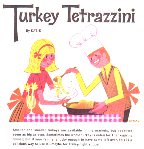 Mod and Mint Vintage Recipe: Leftover Thanksgiving Turkey Tetrazzini Casserole