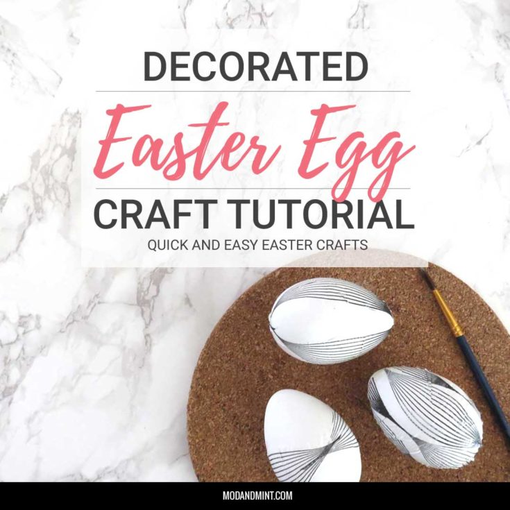 Decorate your home with these pretty Decoupaged Easter Eggs. Complete DIY tutorial with step by step instructions. Eggs, Mod Podge (or PVA glue), and Paper Napkins is all you need! | #eastercrafts #easter #easterdiy #easterdecor #kidscrafts
