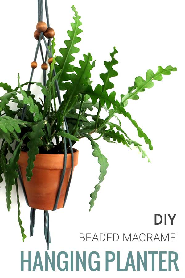 Beaded Macrame Plant Hanger DIY Tutorial