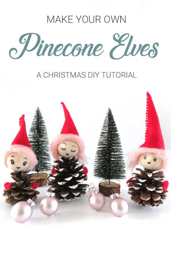 DIY Christmas Pine Cone Elf Tutorial