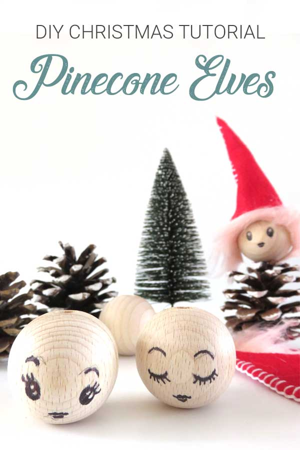 Christmas Pinecone Elves DIY