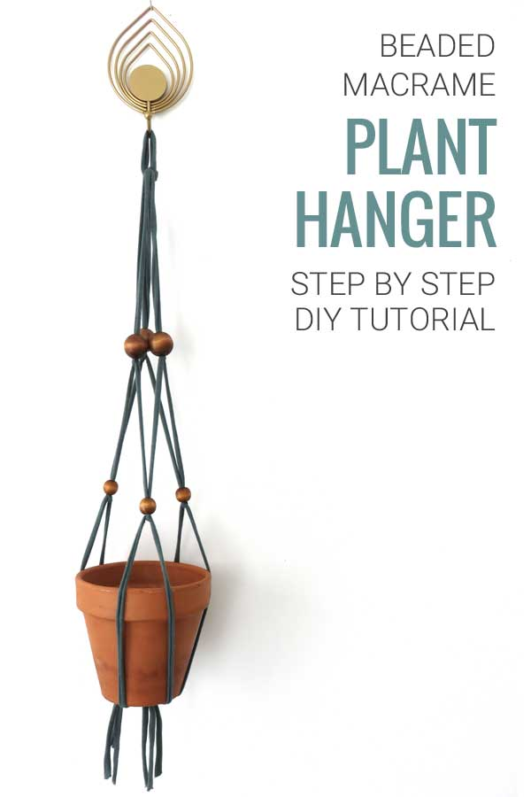 DIY Tutorial Beaded Macrame Plant Hanger