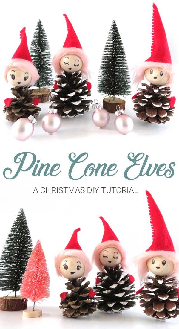 Christmas DIY Tutorial Pine cone Elves