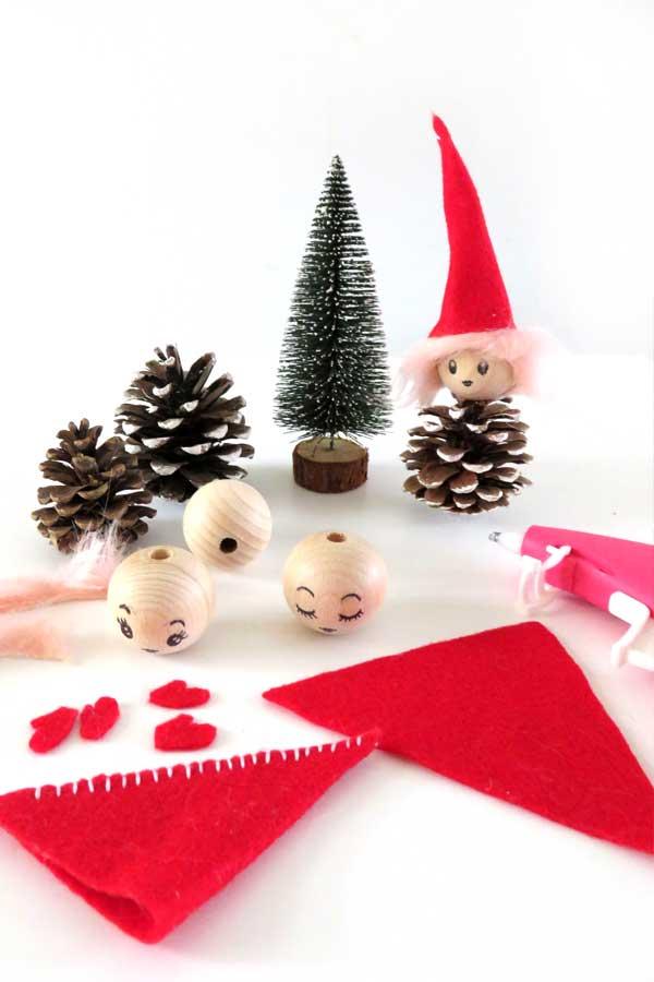 DIY Tutorial Pinecone Christmas Elves