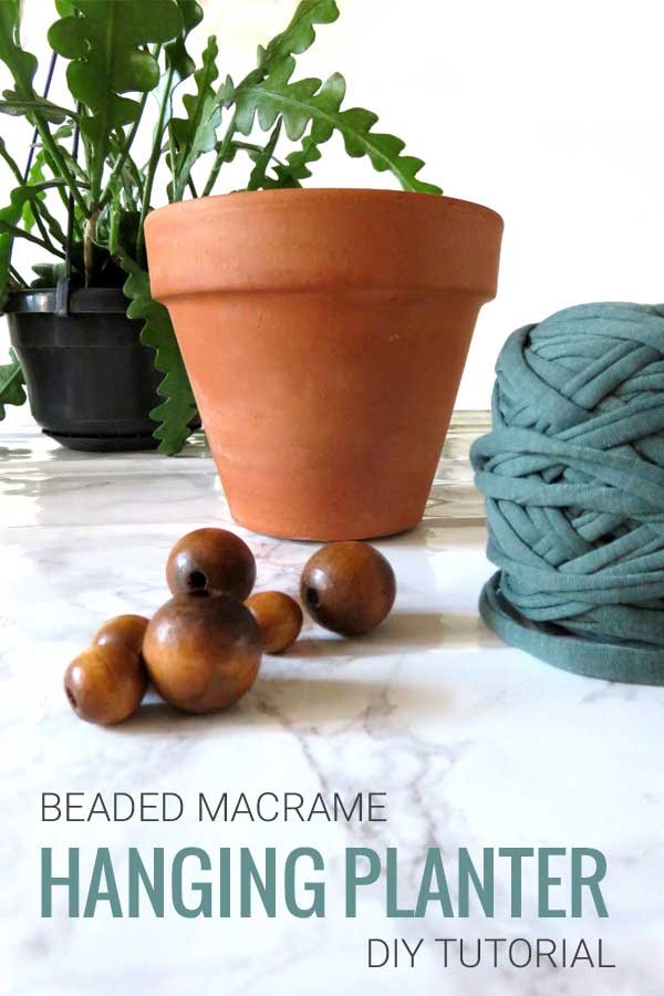 DIY Macrame Plant Hanger Supplies