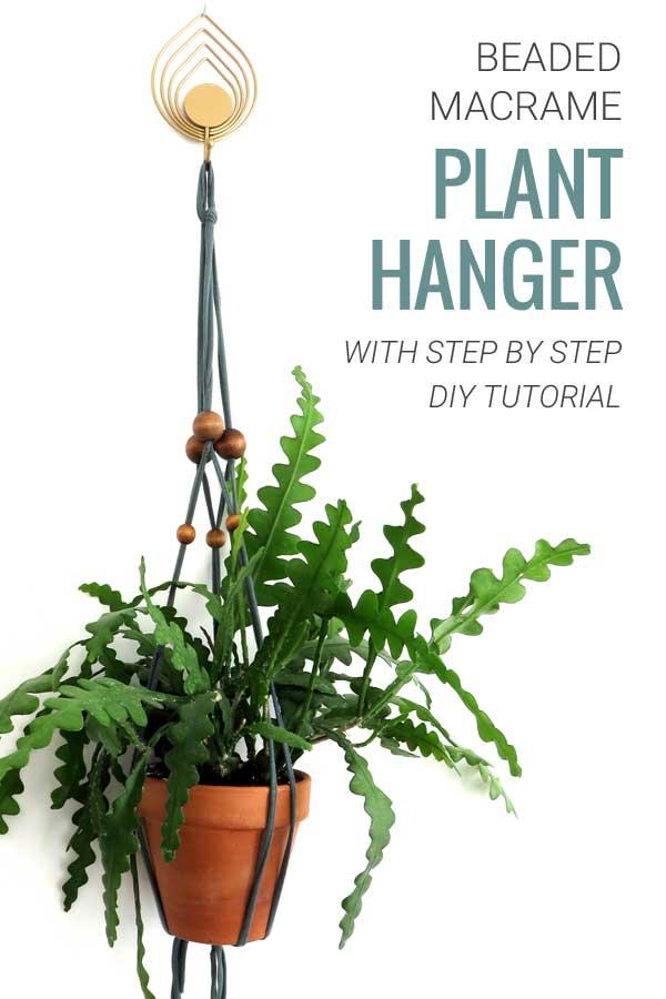 Macrame Plant Hanger Tutorial DIY