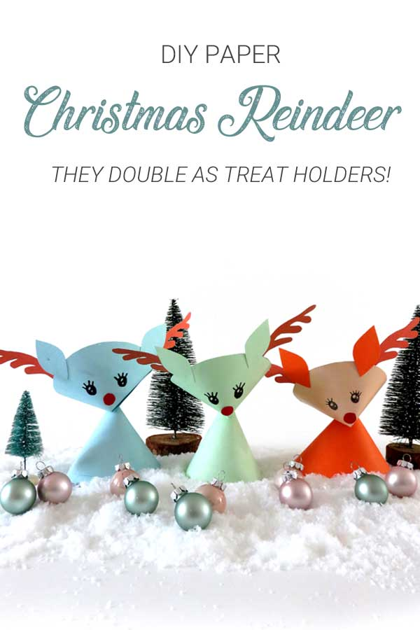 DIY Paper craft Christmas Reindeers
