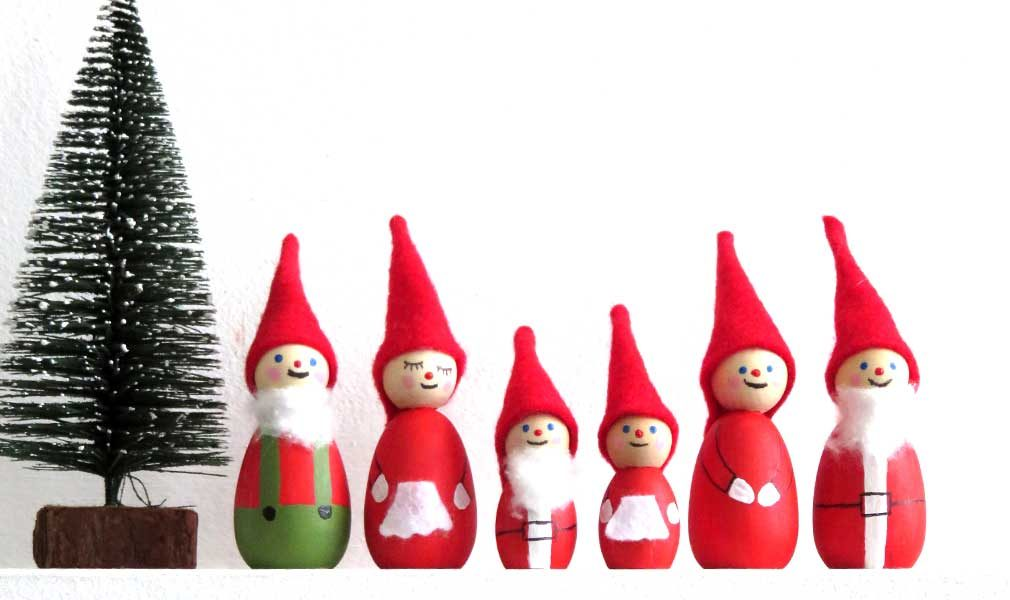 DIY wood santa ornaments tutorial