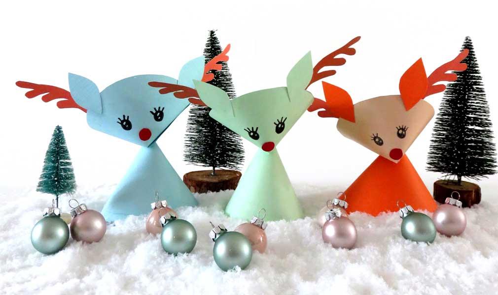 Diy Paper Christmas Reindeer Treat Holders Craft Tutorial