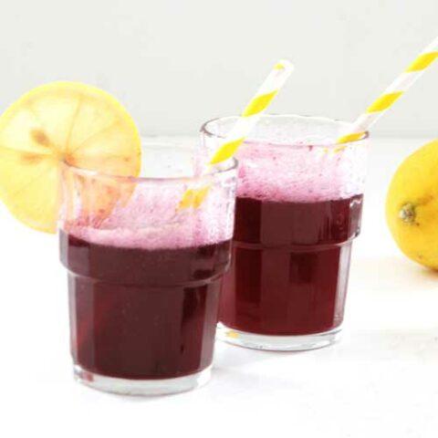 Sparkling Blueberry Lemonade Syrup